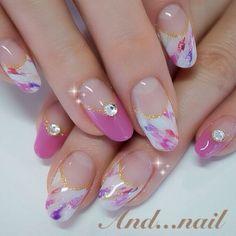 Baby Pink Nails, Pink Nail Art, Simple Nail Art Designs, Nail Designs, Japanese Nail Art, Trendy Nail Art, Bridal Nails, Flower Nails, Nail Art Galleries