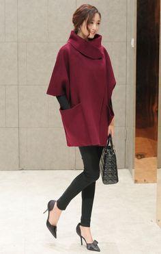 Ricky Fortune 2015 yeni el yapımı yün pelerin ceket yün ceket çift taraflı kaşmir palto kadın -tmall.com Lynx