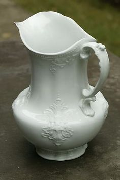 Antique J  G Meakin English Ironstone Late Victorian Water Pitcher Ex 1890's