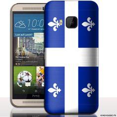 Coque portable pas cher HTC ONE M9 Drapeau Quebec. #Flag #Quebec #Coque #Case #Cover #HTC #M9