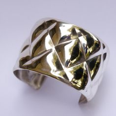 Quilted cuff   sterling silver bracelet. by KelferStudios on Etsy, $150.00