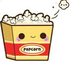Kawaii popcorn Plus Kawaii Anime, Griffonnages Kawaii, Kawaii Illustration, Cute Food Drawings, Easy Drawings, Cute Kawaii Drawings, Art Mignon, Kawaii Doodles, Dibujos Cute
