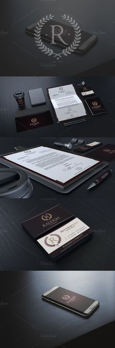 Raleigh Corporate Identity. Stationery Templates. $12.00
