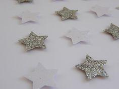 Image of Stars - Small - White/Silver Glitter Star Images, Silver Glitter, Paper Art, Alphabet, Nursery, Stud Earrings, Quote, Stars, Handmade