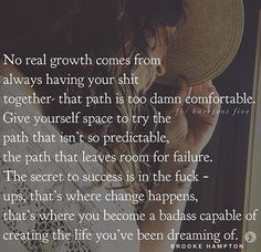 No truer words have ever been spoken. Great Quotes, Quotes To Live By, Me Quotes, Motivational Quotes, Inspirational Quotes, Secret To Success, Life Advice, Note To Self, Poetry Quotes