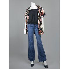SALE - Hawaiian Shirt - 80s Blouse - Tropical Print Black Floral Blouse - Floral Print Tropical Shirt - Oversize 1980s Hawaiian Blouse L/XL   https://www.etsy.com/listing/287604961/sale-hawaiian-shirt-80s-blouse-tropical  #vintage   #vintagestyle   #vintageclothing   #vintagefashion