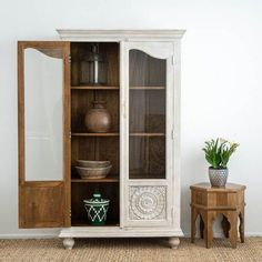 Handcrafted from sustainable mango wood. Coffee Table Nz, Coffee Table With Drawers, Blue Bedside Tables, Low Sideboard, White Washed Furniture, Art Deco Mirror, Moroccan Decor, Arabian Nights, Light Decorations