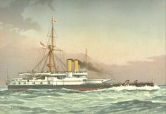 HMS Victoria (1887), by William Frederick Mitchell.