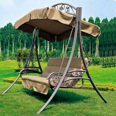 Luxury Loveseat Swing Hanging Chair for The House Garden Porch Swing With Canopy, Balcony Swing, Garden Swing Seat, Hanging Swing Chair, Outdoor Balcony, Pergola Swing, Pergola With Roof, Swinging Chair, Rocking Chair