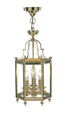Moo0340 Moorgate 3 Light Lantern In Polished Br Cast Dual