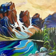 Artist Heather Pant has been painting in acrylics and oils much of her life and professionally for the past 20 years. Abstract Landscape Painting, Landscape Paintings, Landscapes, Painting Inspiration, Cool Art, The Past, 20 Years, Acrylics, Gallery