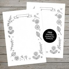 Click through to download a free printable floral journaling template for your bullet journal or ring bound planner! #bulletjournaling #bujo #bulletjournal #bulletjournaltemplate #bulletjournallayout #bulletjournalpage #plannerinsert #dailyjournalpractice #howtostartjournaling #journalingideas #journalingprompts #colouringin #spaceandquiet
