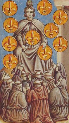 Ten of Coins - Giotto Tarot  by Guido Zibordi