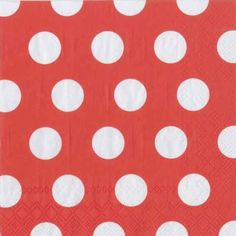 Red Dot Napkins