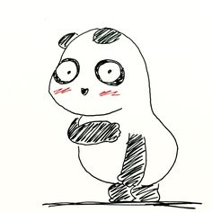 【一日一大熊猫】2016.6.19 キユーピーのロゴは海外では全裸不可な場合もあるんだね。 #パンダ #キユーピー
