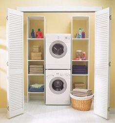 Small Laundry Room Ideas Stacked Washer And Dryer