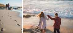 Alicia and Andy's sweetly simple engagement session on Windansea Beach in San Diego, California. Photos by: Studio Sequoia Beach Engagement Photos, Engagement Session, San Diego Beach, La Jolla, California, Couple Photos, Studio, Couples, Simple