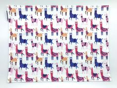 Llama Placemat For Kids Fabric Placemat Back To School Toddler Table, Napkins Set, Folded Up, Placemat, Easy Peasy, Foodies, This Or That Questions, School, Fabric