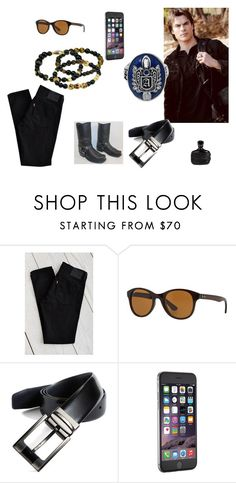 """""""Monday"""" by alecrsutton on Polyvore featuring Levi's, Ray-Ban, John Varvatos, Ted Baker, men's fashion and menswear"""