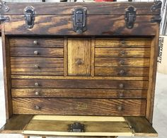 Eleven drawers plus top storage box under the lid. Leaving restoration to new owner. - Early Education Books (Dick and Jane). Machinist Tool Box, Early Education, Restoration, Drawers, Woodworking, Vintage, Ebay, Home Decor, Decoration Home