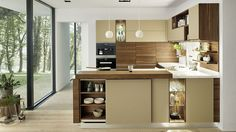 The linee solid wood kitchen by TEAM 7 with a wide range of models ✓ Perfect solutions for every space situation ✓ From the classic to the modern kitchen. German Kitchen, Kitchen Redesign, Luxury Kitchens, Kitchen Design, Modern Kitchen, Solid Wood Kitchens, Kitchen Interior, Classic Kitchen Style, Kitchen Style