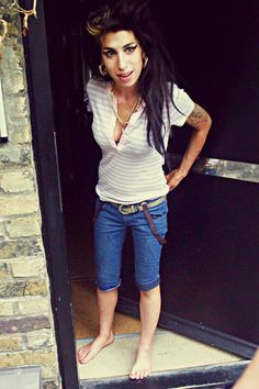 "amywinehousequeen: """"Amy Winehouse outside her London home "" """