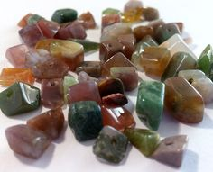 Fancy Indian Jasper Gemstone Bead Chips Agate by ItsAJewelryThing