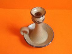 Vintage+pottery+candle+holder+candle+tray+hand+by+Oldtreasures98 $18