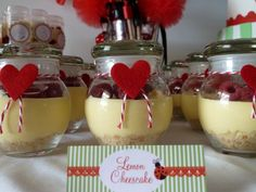 Lemon Cheesecake in a jar. How cool is that!