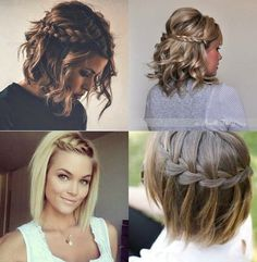 Braids with waves, dressy/casual hair styles Pretty Hairstyles, Girl Hairstyles, Braided Hairstyles, Wedding Hairstyles, Hairstyle Ideas, Medium Hair Styles, Curly Hair Styles, Pinterest Hair, How To Make Hair