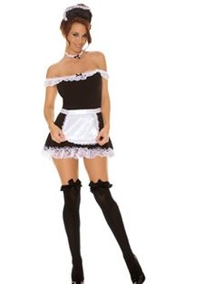 Find sexy Halloween costumes for women, men, and plus-size right here! Shop our selection for the best sexy Halloween costume ideas around! A revealing, sexy costume is sure to make your Halloween or cosplay event a memorable one. French Maid Dress, French Maid Costume, French Maid Lingerie, Maid Halloween, Sexy Halloween Costumes, Adult Halloween, Halloween Ideas, Women Halloween, Halloween 2013