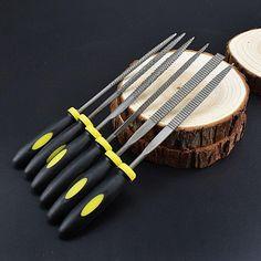 Woodworking Files Hobby Hand Diy Folder Metal Filing Flat Wood Carving Tools Mini File Set Microtech Needle Rasp Filling Tool
