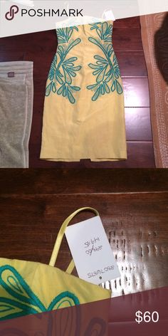 NWT Tracey Reese yellow anthropologie dress size 0 New, never worn dress with tag by Tracy Reese for anthropologie.  Dress is form fitting with removable straps. Anthropologie Dresses