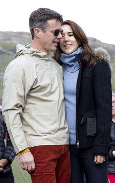 Kronprins Frederik og Kronprinsesse Mary i Grønland.