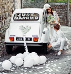 1000 images about voiture mariage on pinterest wedding for Decoration 2cv mariage