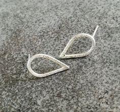 Tiny Handmade Earrings in Sterling Silver / Simple Stud Earrings / Minimalist Earrings / Gift for Her / Gift for Women Handmade Jewellery, Earrings Handmade, Unique Jewelry, Handmade Gifts, Gifts For Women, Gifts For Her, Minimalist Earrings, Silver Rings, Stud Earrings