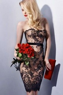 gooooorgeous lace overlay sheath dress! cocktail party perfect!
