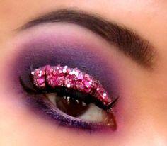 Pink Chunky Glitter Cut Crease