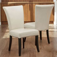 NFusion Columbia Leather Dining Chairs (Set of 2) Set of 2 #Contemporary