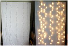 How to make photo booth with christmas lights #diy #photobooth
