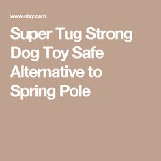 Super Tug Strong Dog Toy Safe Alternative to Spring Pole
