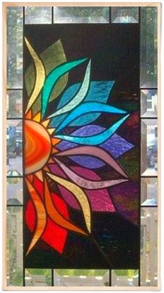 Stained glass flower.. More