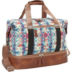 Buy the Po Campo Midway Weekender at eBags - Detailed with a drop bottom compartment for shoes, this chic weekender bag is perfect for overnight Travel Luggage, Travel Essentials, Jewelry Stores, Diy Design, Headbands, Gym Bag, Diaper Bag, Mosaic, Weekender