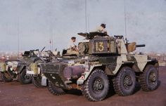 """colonel-kurtz-official: """" Armored cars of the Queen's Dragoon Guards in Aden, """" British Armed Forces, British Soldier, British Army, Armored Fighting Vehicle, Armored Vehicles, Armored Car, Military Equipment, Military History, Historical Photos"""