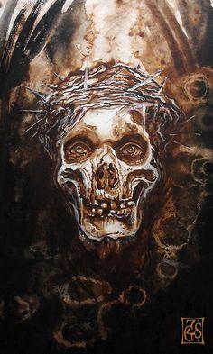 Crown Of Thorns Skull Tattoo
