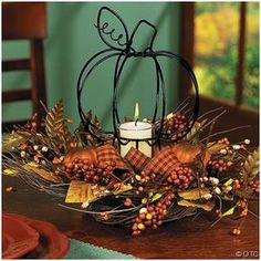 christmas homemade decorations | ... Decorations For The Home, Homemade Thanksgiving Centerpieces Ideas