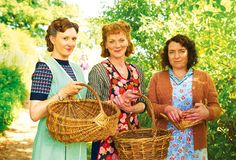 From left to right: Frances Grey, Samantha Bond and Claire Rushbrook in the new ITV drama Home Fires