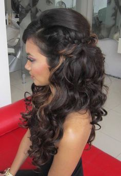 Peinados boda - Peinados boda Source by doris_heindl - Quince Hairstyles, Bride Hairstyles, Down Hairstyles, Pretty Hairstyles, Hairstyle Ideas, Quinceanera Hairstyles, Homecoming Hairstyles, Wedding Hair Down, Wedding Hair And Makeup