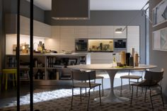 Italian kitchen cabinets - modern and ergonomic kitchen design Style Loft, Contemporary Kitchen Design, Kitchen Models, Kitchen Collection, Cuisines Design, Küchen Design, Luxury Interior, Kitchen Furniture, Furniture Ideas