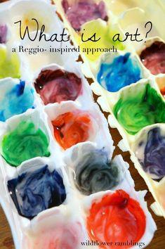 what is art: a Reggio-inspired approach - Wildflower Ramblings